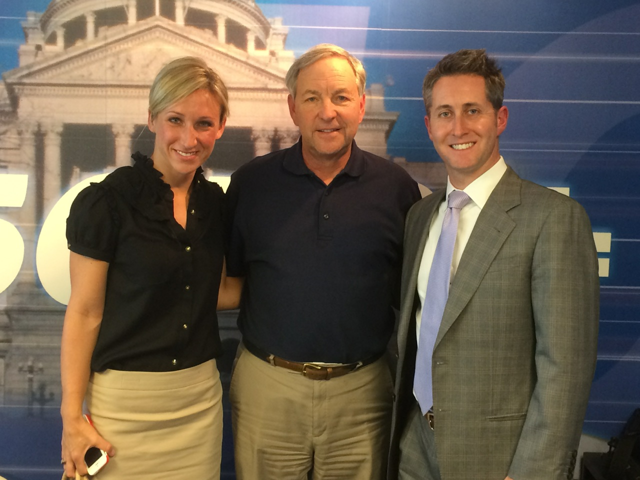 Doug Richards with 850 KOA's Mike Rosen and fellow attorney Lindsay Hutchinson.